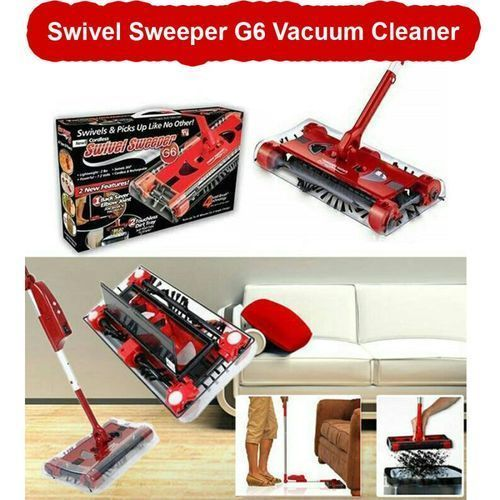 As Seen On Tv G6 Swivel Sweeper Cordless Vacuum Cleaner - Red