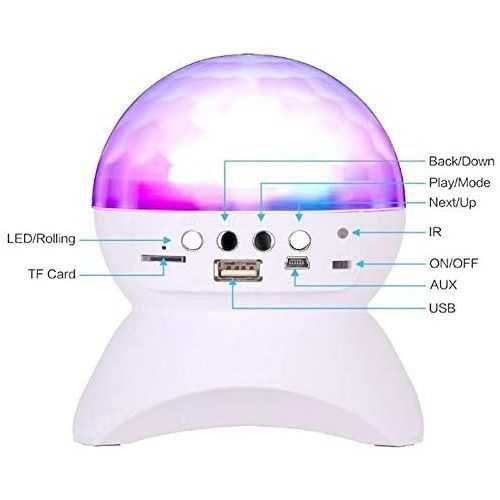 Ball Crystal Lights Disco &Amp; Speaker Bluetooth Wireless - Rechargeable 2
