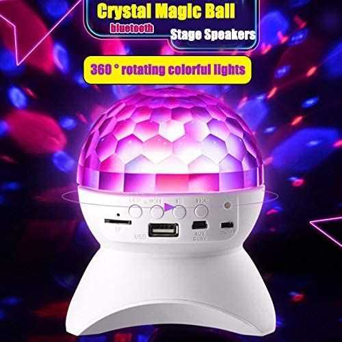 Ball Crystal Lights Disco &Amp; Speaker Bluetooth Wireless - Rechargeable 3