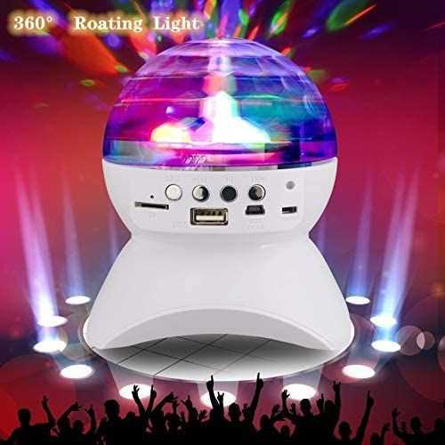Ball Crystal Lights Disco &Amp; Speaker Bluetooth Wireless - Rechargeable