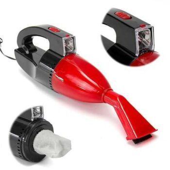 Car Vacuum Cleaner With Light - Red - 12v