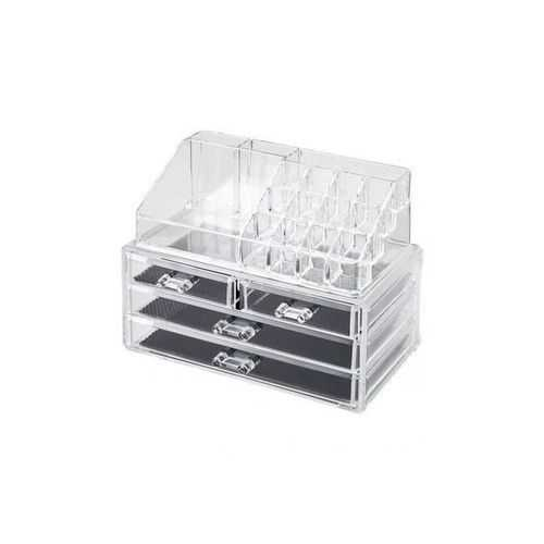 Cosmetic Makeup Organizer Box With 4 Drawers - Clear 3