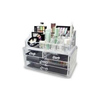 Cosmetic Makeup Organizer Box With 4 Drawers - Clear