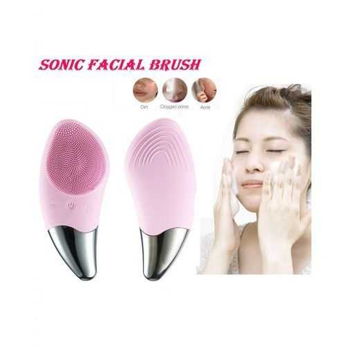 Electric Silicone Ultrasonic Facial Cleanser Brush -2Way 1