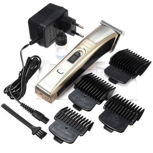 Kemei Km-5017 Electric Shaver - For Men - Silver/Gold