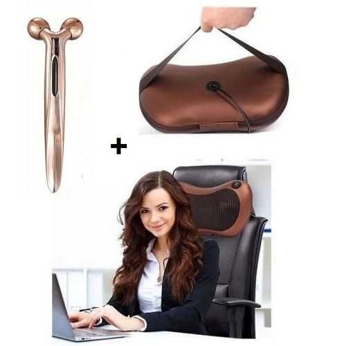 Massage Pillow For The Car &Amp; Home - Work + Eye Roller