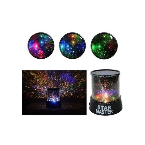 Night Light Projector With Led Lamp - Black