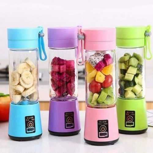 Portable And Rechargeable Battery Juice Blender - 380Ml - Green 1