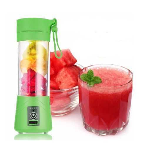 Portable And Rechargeable Battery Juice Blender - 380Ml - Green