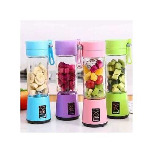 Portable And Rechargeable Battery Juice Blender - 380Ml - Blue 1