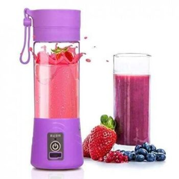 Portable And Rechargeable Battery Juice Blender - 380ml - purple