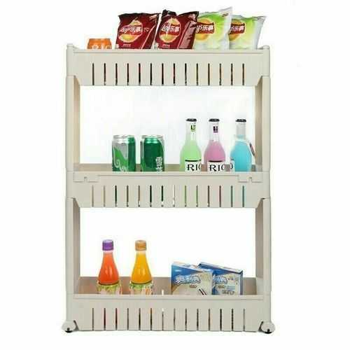 Slide Out Storage Rack Organizer With Wheels - 3 Tiers 1