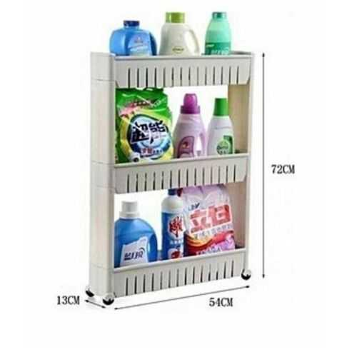 Slide Out Storage Rack Organizer With Wheels - 3 Tiers 2