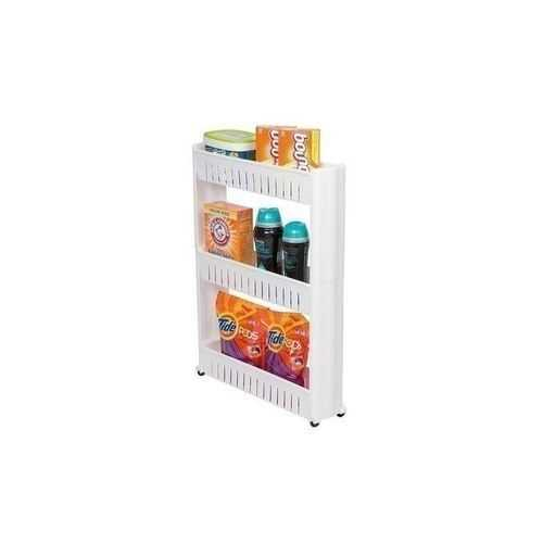 Slide Out Storage Rack Organizer With Wheels - 3 Tiers 4