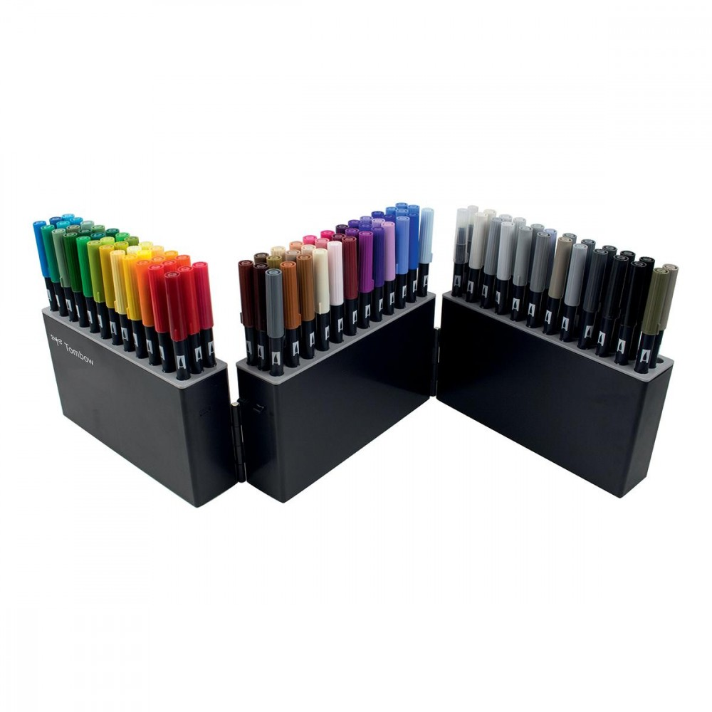 Coffret De 108 Feutres Double Pointe Abt Dual Brush Pen Abt 108c