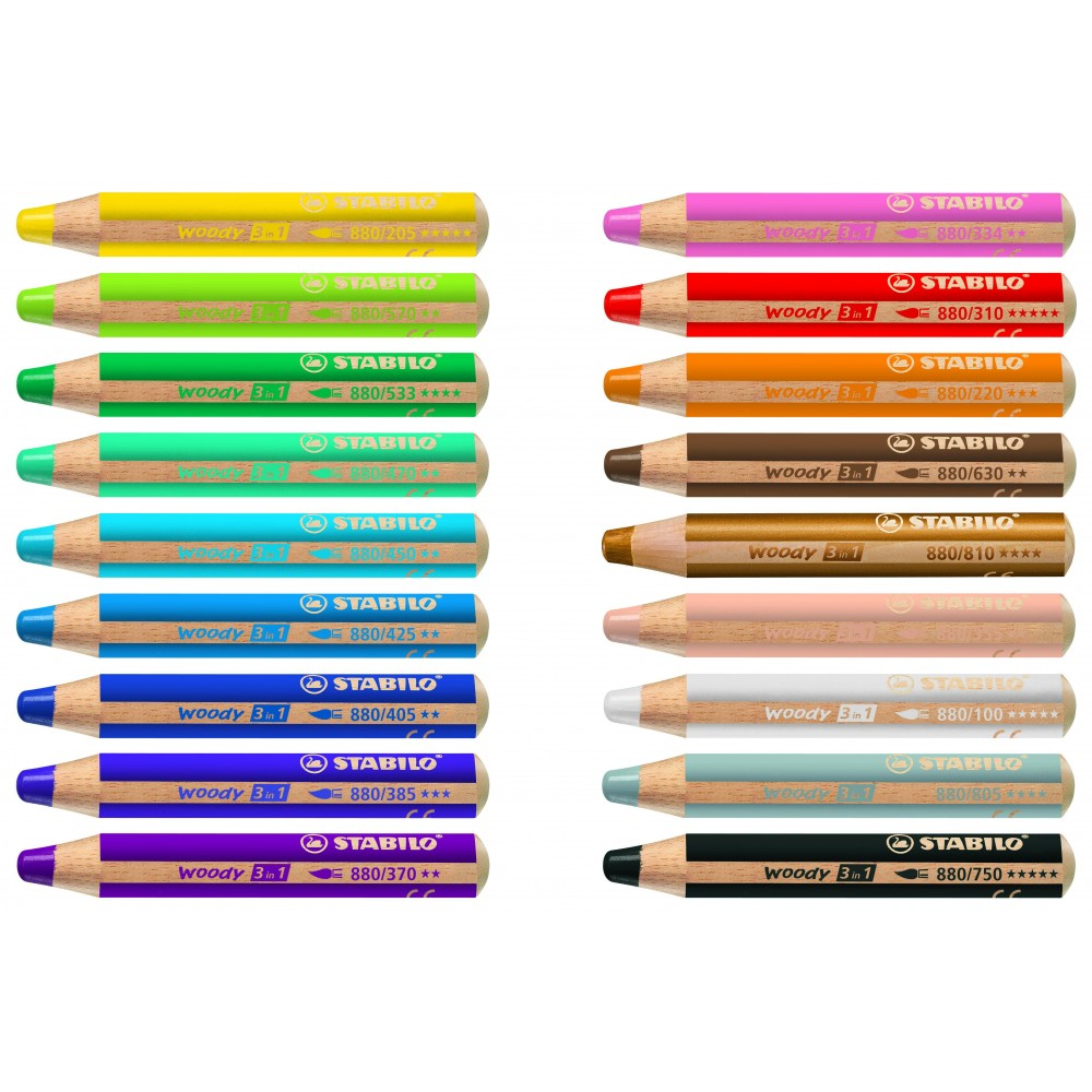 Crayon De Couleur Multi Talents Woody 3in1 Violet Fonce