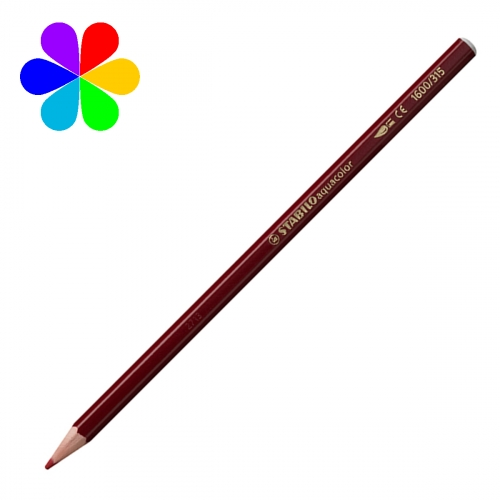 Crayon De Couleur Aquacolor Carmin Brillant 1600 315 Crayon