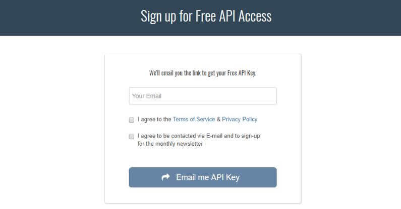 Keywords Everywhere - Get API Key