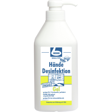 Dr Becher Hande Desinfektion Gel 1 Liter Dispenserflasche