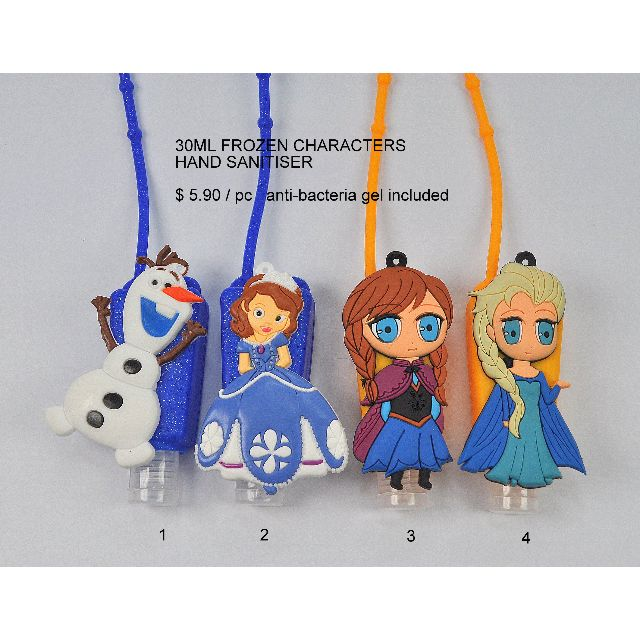 Any 5 Cute Frozen Figures Hand Sanitizer Holder With 30 Ml