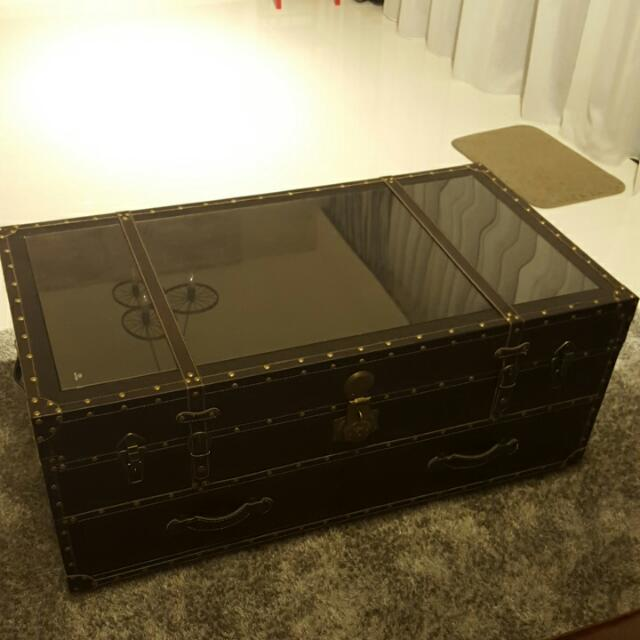 Trunk Case Chestbox Coffee Table Brown Furniture On Carousell