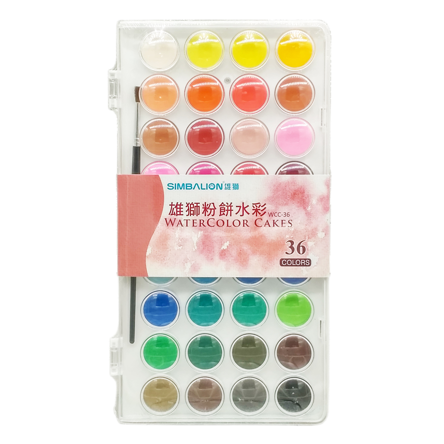 Simbalion Watercolor Cakes 36 Colors Free Delivery Free Brush