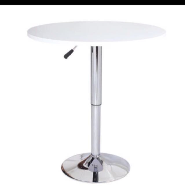 Adjustable Bar Top Round Table Furniture Tables Chairs On