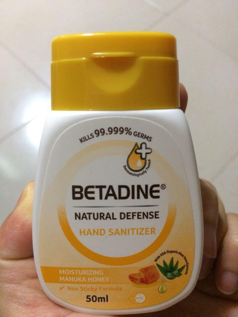 Betadine Hand Sanitizer Health Beauty Face Skin Care On