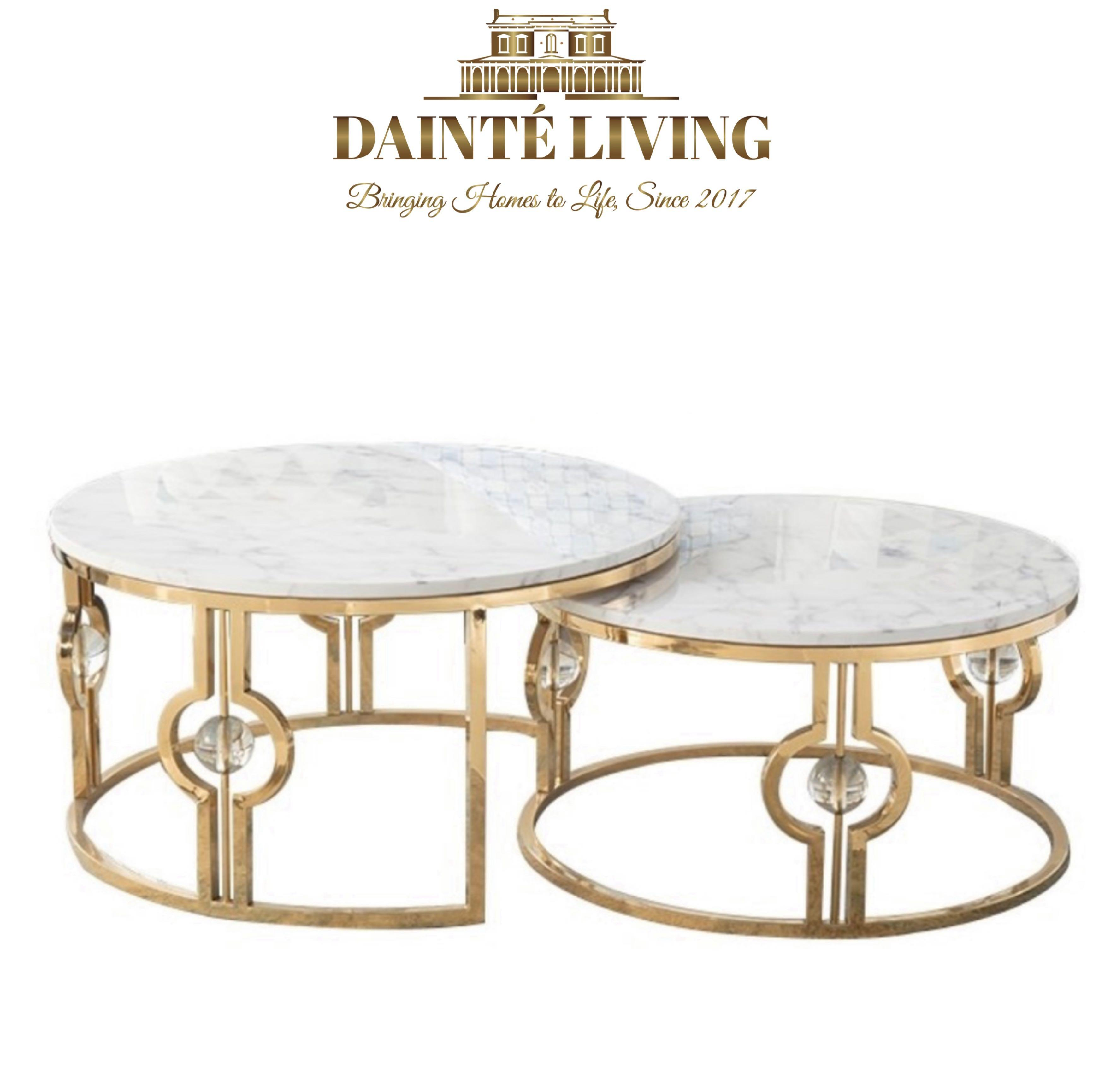Modern Luxury Marble Nesting Coffee Table Furniture Tables