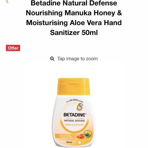 Betadine Natural Defense Nourishing Manuka Honey Moisturising