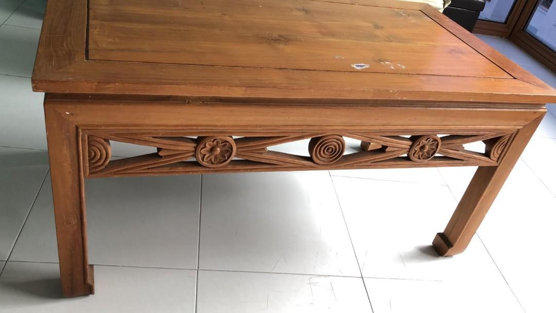 Used Indonesian Coffee Table Furniture Tables Chairs On Carousell