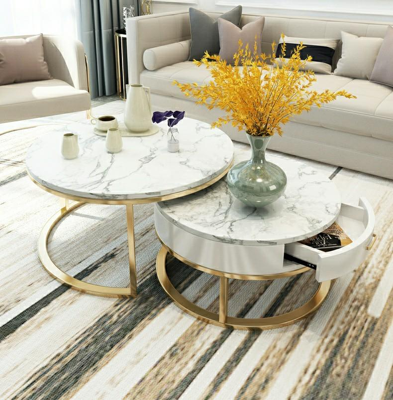 Nordic Luxury Marble Coffee Table Furniture Tables Chairs On