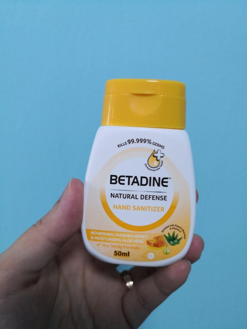Betadine Natural Defense Hand Sanitizer Health Beauty Hand