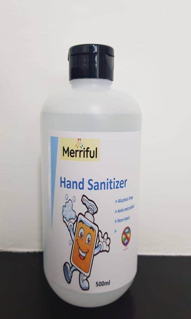 Merriful Alcohol Free Hand Sanitizer 500ml 70ml Available
