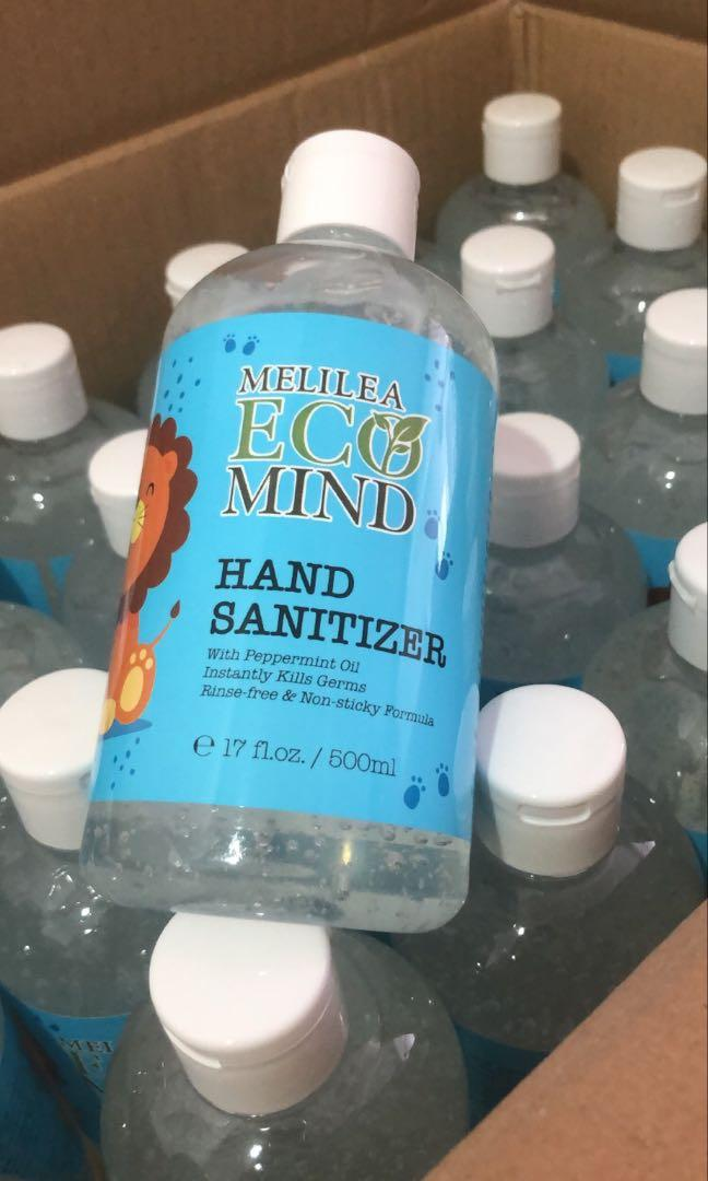 Ready Stocks Melilea Ecomind Hand Sanitiser 500ml Health