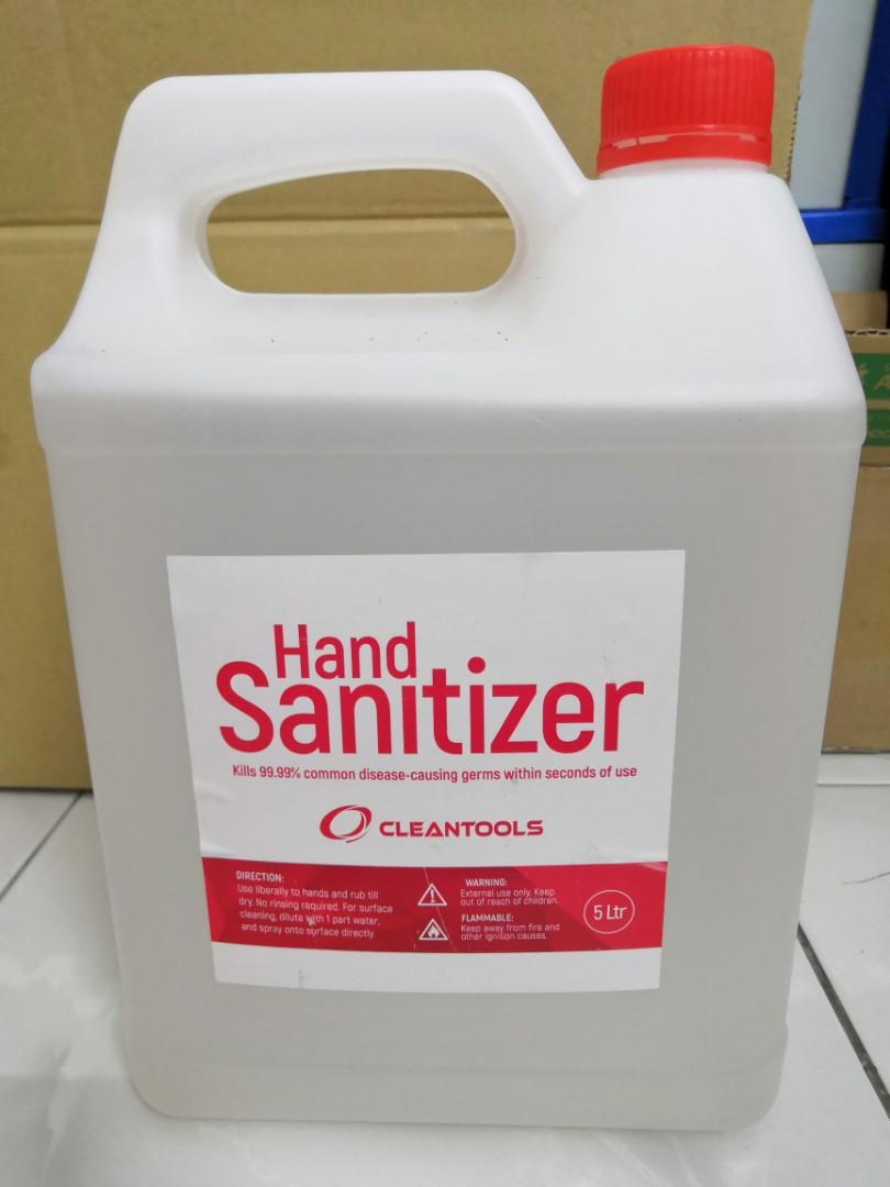 Wholesale Cleantools Instant Hand Sanitizer 5 Liter 100