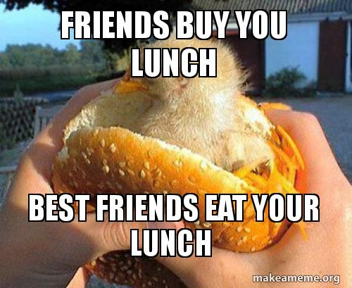 Caption For Lunch With Friends 6