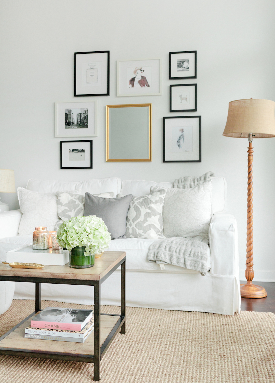 Get The Look For Less Cozy Minimalist Living Room The Everygirl
