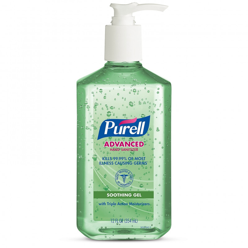 Purell Advanced Hand Sanitizer With Aloe 12 Oz Pump Bottles