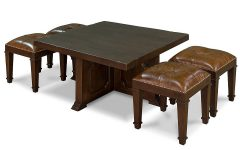 Coffee Tables with Nesting Stools