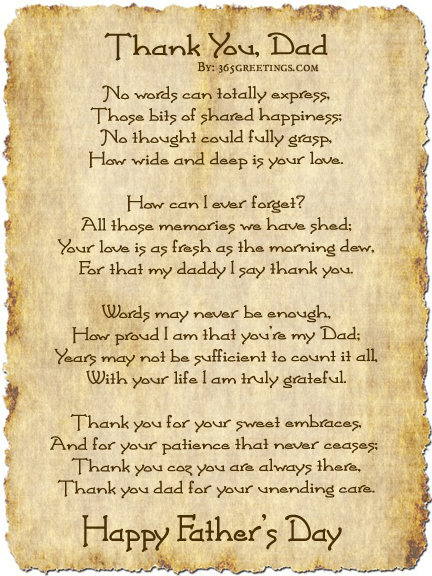 Fathers Day Poems From Daughter 2