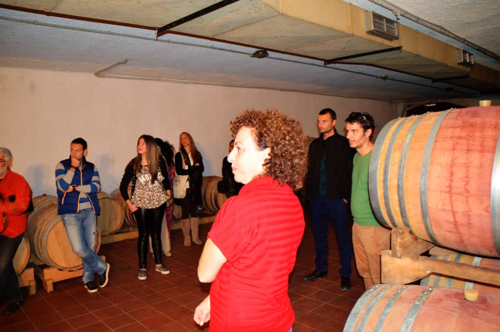 At Lafkiotis Winery cellar