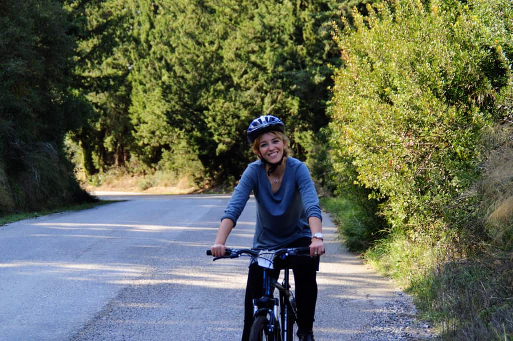 Happy Cyclist towards Nemea