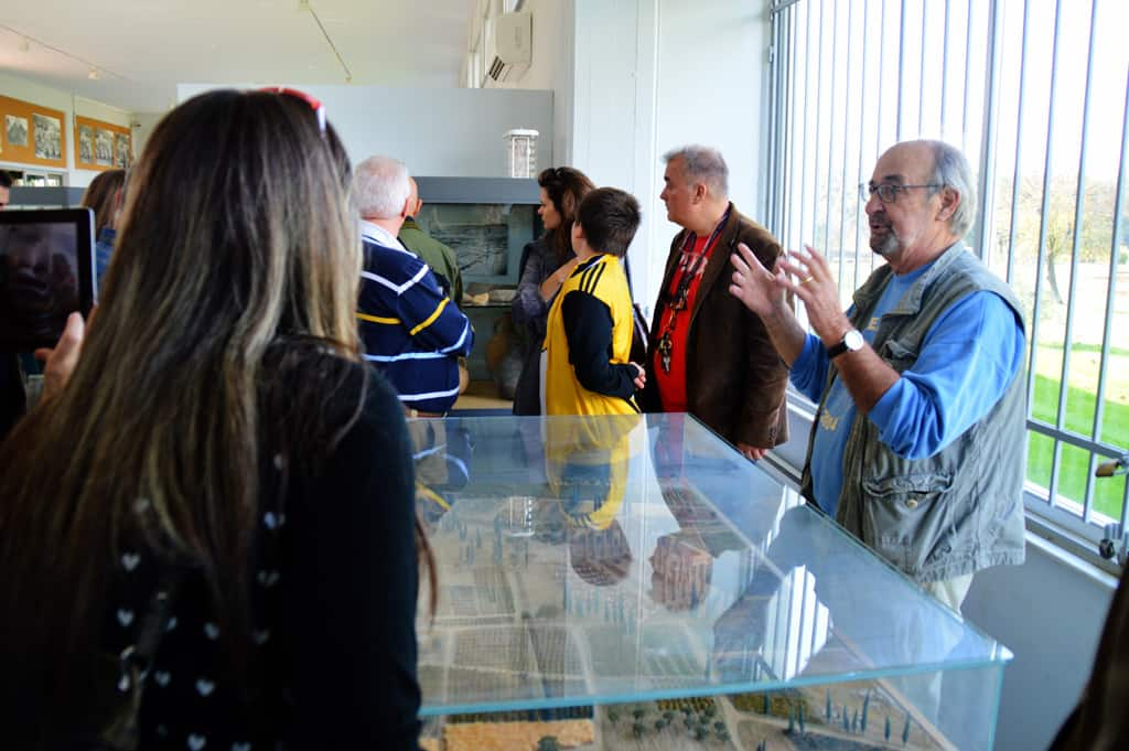 Nemea museum with Dr Miller explaining