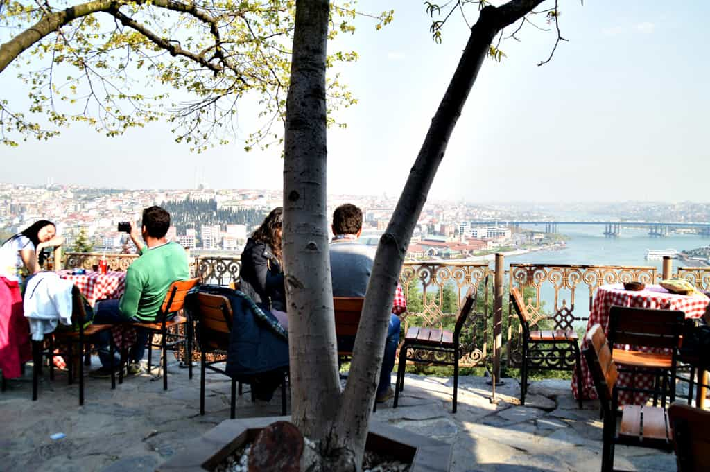 Eyup hill and Pier Lotti Cafe Istanbul Turkey