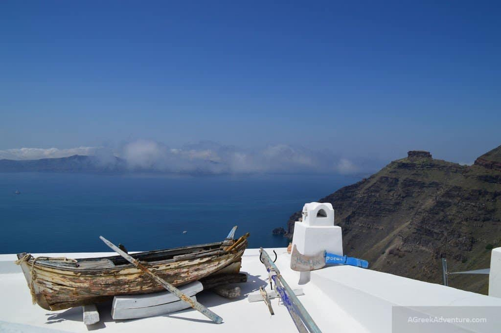 Santorini Greece - Fira or otherwise called as Thera