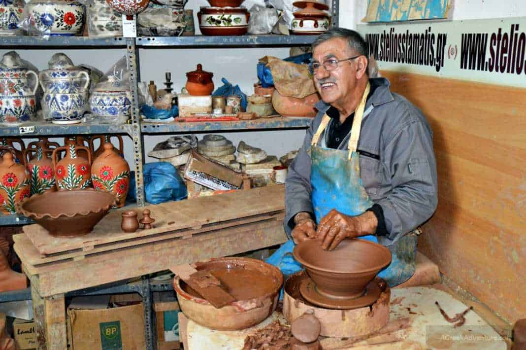 Learning pottery from Mr. Stelios Stamatis