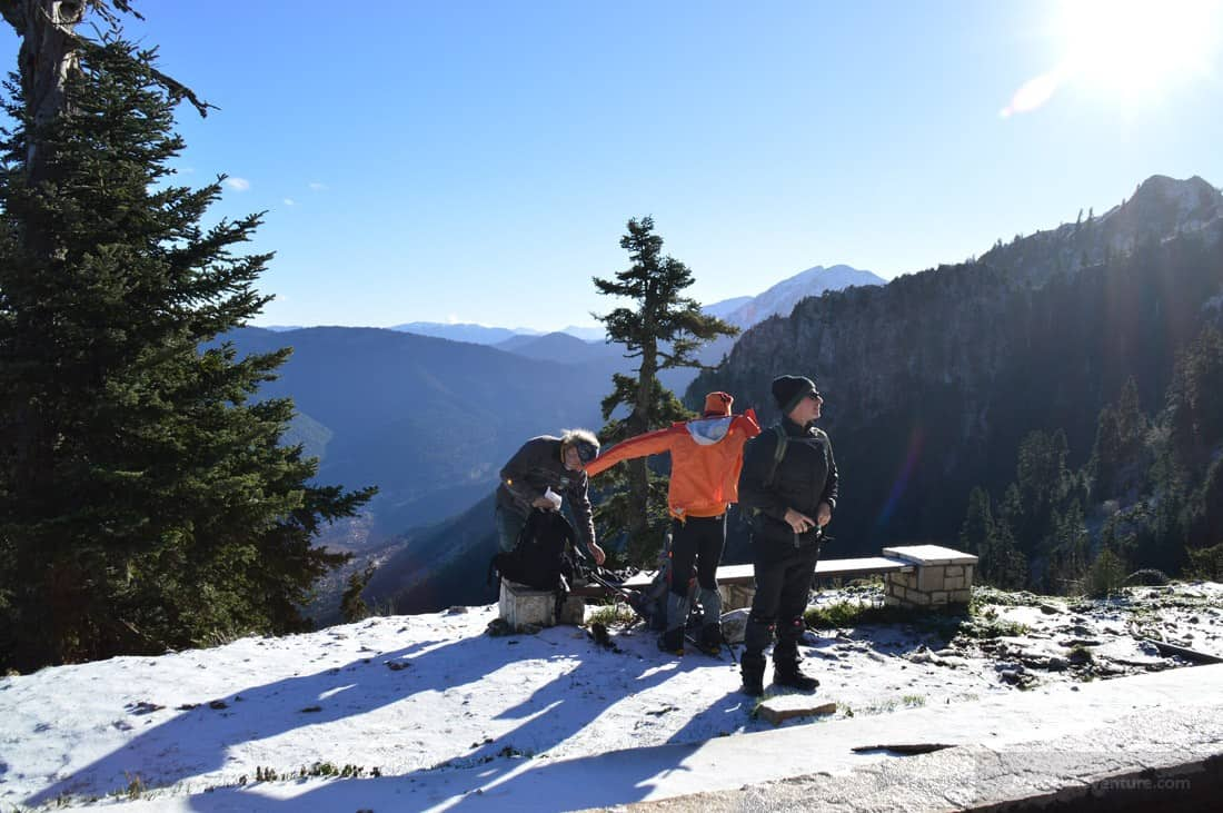 Reviewing Decathlon Trekking Gear While Climbing in Karpenisi