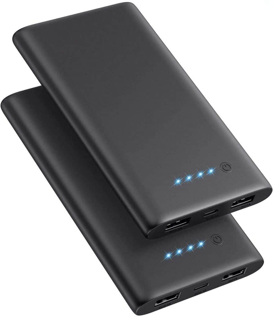 Cool Travel Gadgets - Power Bank, Portable Charger 10000mAh Ultra Slim External Battery Pack Dual USB