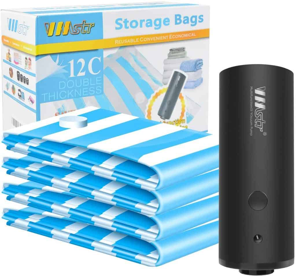 cool travel gadgets  VMSTR Travel Vacuum Storage Bags